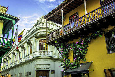 Colombia Photograph - Wonderful Spanish Colonial Architecture by Jerry Ginsberg