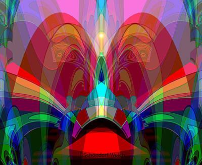 Lyrical Digital Art - 612 - Wondrous Machine Outburst  by Irmgard Schoendorf Welch
