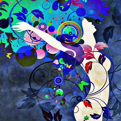 Wondrous Night Print by Angelina Vick