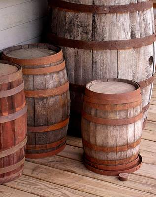 Rusted Barrels Photograph - Wood And Rust by Val Arie