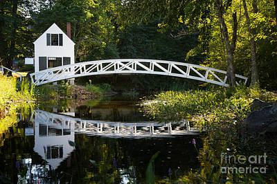 Wood Bridge Somesville Print by Jane Rix