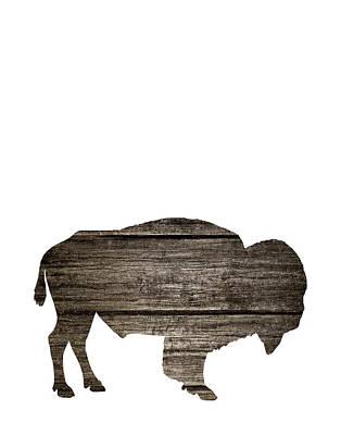 Bison Painting - Wood Buffalo by Tara Moss