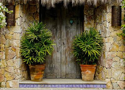 Wood Door Print by Aged Pixel