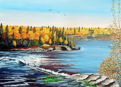 Wood Falls 3 Original by Marilyn  McNish