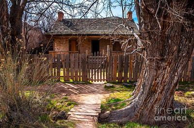 Wood Home - Grafton Ghost Town - Utah Print by Gary Whitton