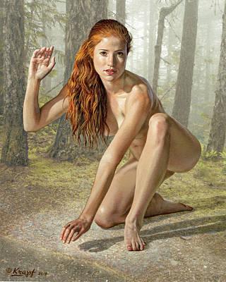 Wood Nymph Original by Paul Krapf