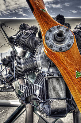 Wood Prop And Engine Print by Daniel Hagerman