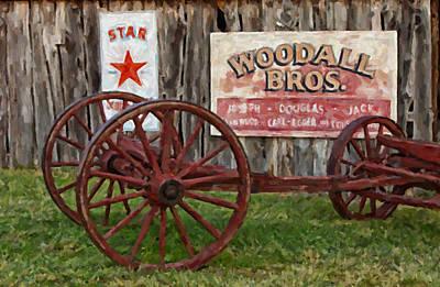 Wooden Platform Digital Art - Woodall by Jack Milchanowski