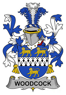 Woodcock Digital Art - Woodcock Coat Of Arms Irish by Heraldry