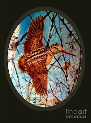 Woodcock Painting - Woodcock by Joe Rizzo