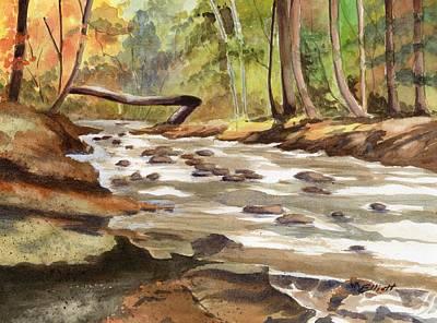 Wooded Stream Original by Marsha Elliott