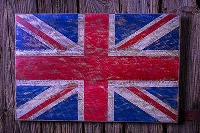 Saint George Photograph - Wooden British Flag by Garry Gay