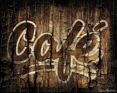 Cafe Digital Art - Wooden Cafe Sign by Sheena Pike