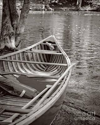 Wooden Ships Photograph - Wooden Canoe by Edward Fielding