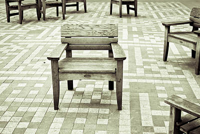 Wooden Chairs Print by Tom Gowanlock