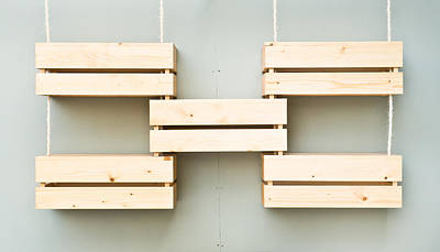 Pallet Photograph - Wooden Crates by Tom Gowanlock