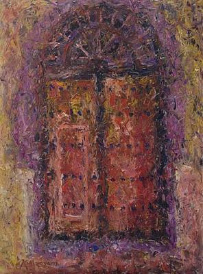 Painting - Wooden Door by Khalid Alzayani