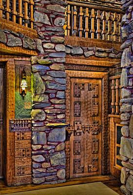 Woodcarving Photograph - Wooden Door by Susan Candelario