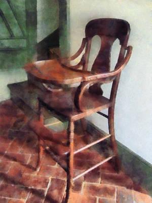 Brick Photograph - Wooden High Chair by Susan Savad