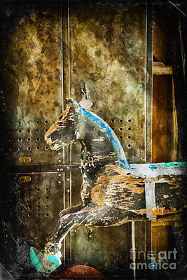 Found Art Photograph - Wooden Horse by Colleen Kammerer