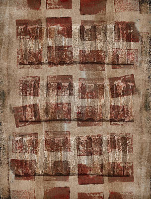 Brown Tones Mixed Media - Wooden Paper by Carol Leigh