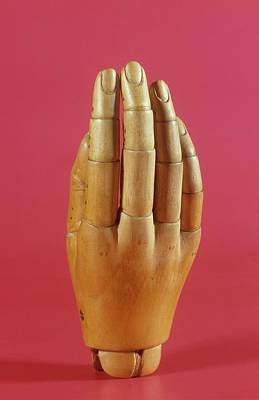 Wooden Prosthetic Hand Print by Science Photo Library