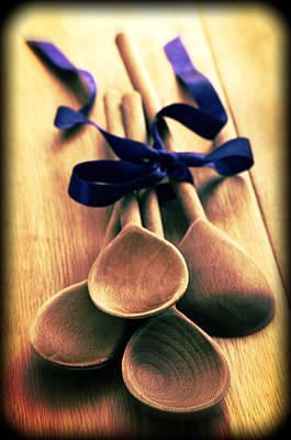 Wooden Spoons Print by Amanda Elwell