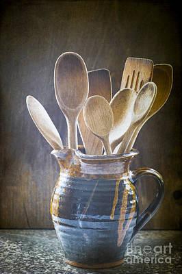 Wooden Spoons Print by Jan Bickerton