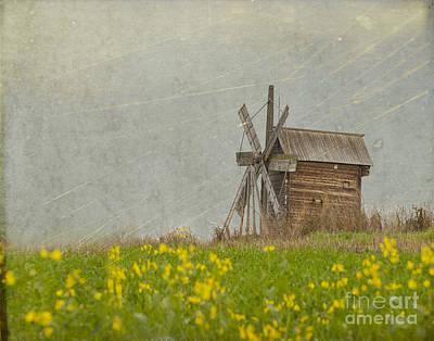 Old Wooden Windmill.  Kizhi Island.  Russia Print by Juli Scalzi