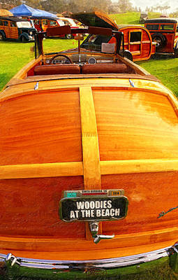 Classic Woodie Digital Art - Woodies At The Beach by Ron Regalado