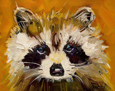 Woodland Racoon Original by Diane Whitehead