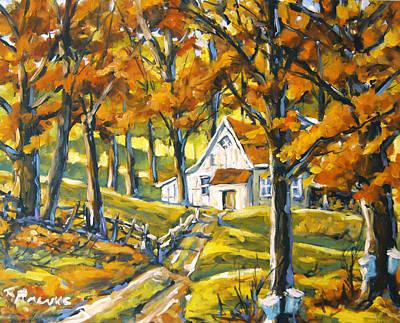 L Montreal Painting - Woodland Sugar Shack By Prankearts by Richard T Pranke