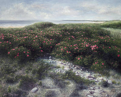 Cape Cod Beach Painting - Woodneck Morning Light by Julia O'Malley-Keyes