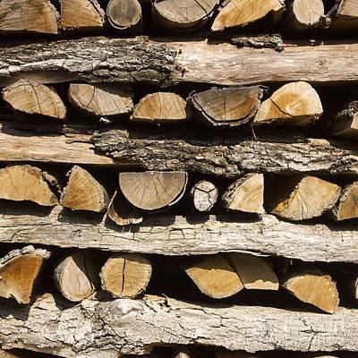 Woodpile. Print by Bernard Jaubert