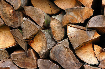 Fireplace Photograph - Woodpiles by Michal Bednarek