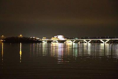 Woodrow Wilson Bridge - Washington Dc - 011340 Print by DC Photographer