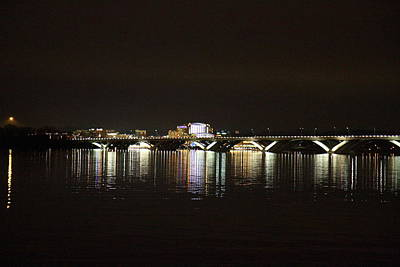 Curves Photograph - Woodrow Wilson Bridge - Washington Dc - 011342 by DC Photographer