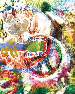Woodstock Original Painting Print  Print by Ryan Rock Artist