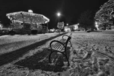Groundhog Photograph - Woodstock Square Xmas Eve Nite by Sven Brogren