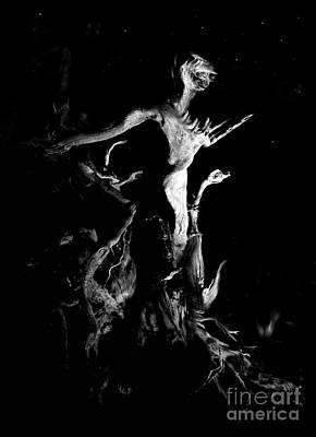 Woody Alien Print by Petros Yiannakas