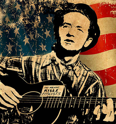 Woody Guthrie Photograph - Woody Guthrie 1 by Andrew Fare