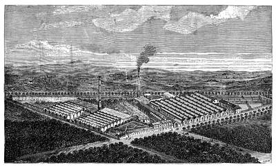 Wool Combing Factory Print by Science Photo Library