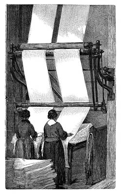 Wool Folding Machine Print by Science Photo Library