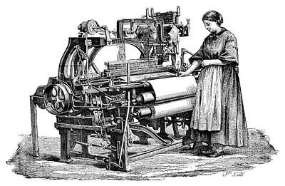 Wool Loom Print by Science Photo Library