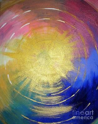 Shouting Painting - Word Of God by Karen Jane Jones