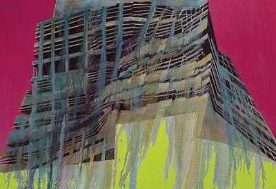 Color Block Painting - Work In Progress IIi by Luke M Walker