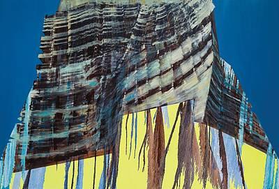 Color Block Painting - Work In Progress Iv by Luke M Walker