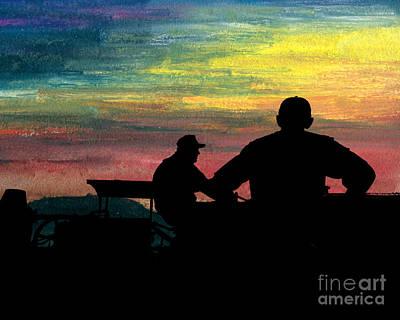 Workin' Till Dark Print by R Kyllo