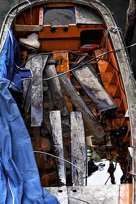 Artist Working Photograph - Working Boat by John Rizzuto