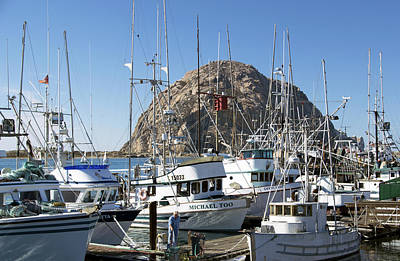 Working Dock At Morro Bay 2 Print by Barbara Snyder